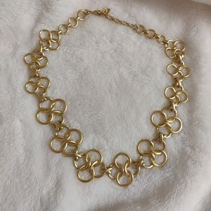 Golden Circular Long Chain Necklace